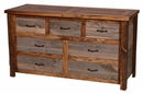 Barnwood 7-Drawer Dresser