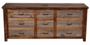 Barnwood 9-Drawer Dresser