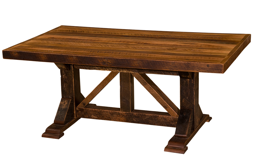 barnwood homestead counter height six foot dining table