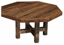 Barnwood Octagon Dining Table - Counter Height