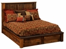 Barnwood Post Platform Bed