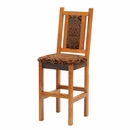 Artisan Barnwood Upholstered Bar Stool