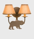 Bear Double Sconce