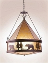 Bear Teepee Chandelier - Oversized