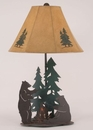 Bears Roasting Marshmallows Table Lamp