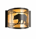 Black Bear Diamond Wall Sconce