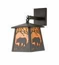 Black Bear Lantern Wall Sconce
