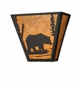 Black Bear Tapered Wall Sconce