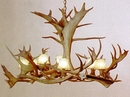 Caribou 8-Lamp Antler Chandelier - Large