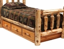 Cedar 3 Drawer Under Bed Unit