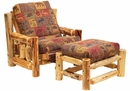 Cedar Futon Chair With Ottoman