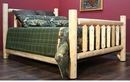 Cedar Log Low Post Double Bed