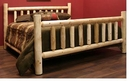 Cedar Log Low Post King Bed