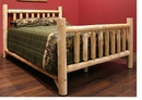Cedar Log Low Post Queen Bed