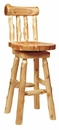 Cedar Swivel Bar Stool with Back