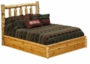 Cedar Traditional Log Platform Style Bed