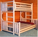 Cedar Twin/Double Log Bunk Bed