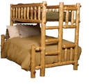 Cedar Twin over Full Bunk Bed