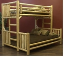 Cedar Twin/Queen Log Bunk Bed