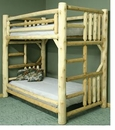 Cedar Twin/Twin Log Bunk Bed