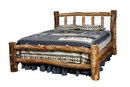 Colorado Aspen Log Bed with Short Footboard