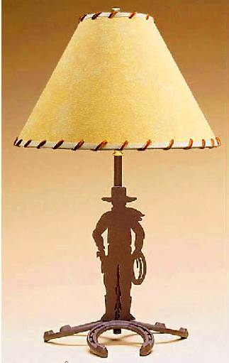 Cowboy Horseshoe Table Lamp