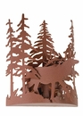Elk Thru the Trees Wall Sconce