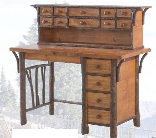 Old Hickory North Fork Fly Tying Desk And Hutch Lodge Craft