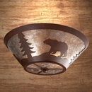 Round Drop Ceiling Mount - Bear