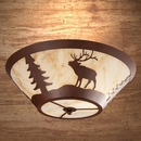 Round Drop Ceiling Mount - Elk