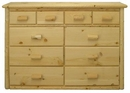 Rustic 10-Drawer Dresser