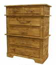 Rustic Alder 2 over 4 Drawer Chest