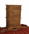 Rustic Alder 5 Drawer Stacked Chest