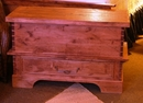 Rustic Alder Blanket Box with Drawer