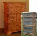 Rustic Barnwood/Alder 8 Drawer Stacked Chest