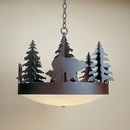 Trailblazer Chandelier with Grizzly