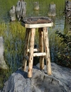 Upholstered Wrangler Log Stool