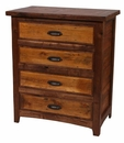 Walnut Lodge 4 Drawer Chest