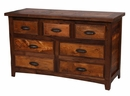 Walnut Lodge 7 Drawer Dresser
