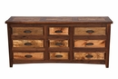 Walnut Lodge 9 Drawer Dresser