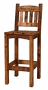 "Weathered Pine 24"" Barstool w/ Back"