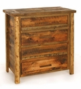 Weathered Pine 3-Drawer Chest