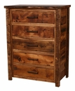 Weathered Pine 5-Drawer Chest