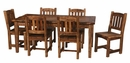 "Weathered Pine 72"" Dining Table - 36"" or 42"" Width"