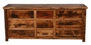 Weathered Pine 9-Drawer Dresser