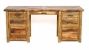 Weathered Pine Executive Desk