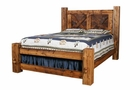 Weathered Pine Pioneer Bed with Short Footboard