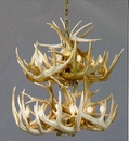 Whitetail 2-Tiered 10-Lamp Antler Chandelier