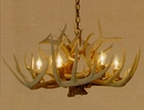 Whitetail 6-Lamp Antler Chandelier