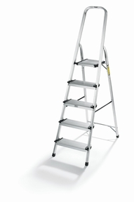 5-step Ultra-light Ladder, Chrome
